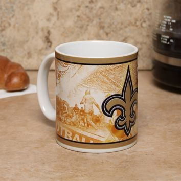 New Orleans Saints 11oz. Nostalgic Mug
