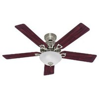 Hunter 22460 Astoria 52-Inch Five Blades Ceiling Fan, Brushed Nickel with Bowl