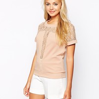 Girls on Film Scuba Top with Lace Insert