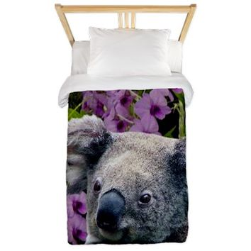 Koala and Orchids Twin Duvet