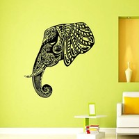 Wall Vinyl Decal Quote Sticker Home Decor Art Mural Indian Elephant Z271