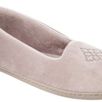 Dearfoams Womens Velour Solid Moccasin Slippers