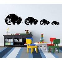 4 Elephants - G Direct Wall Stickers