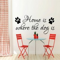 Home is where the dog is - G Direct Wall Stickers