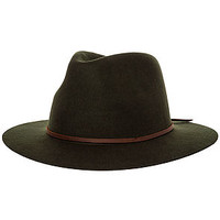 The Wesley Fedora in Moss