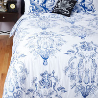 ModCloth Nautical Maritime and Tide Duvet Cover in Full, Queen