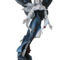 Statues and Figurines | Gothic Angel With Rose Petal