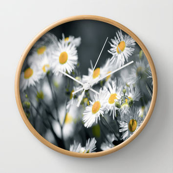 No words Wall Clock by Laura Santeler