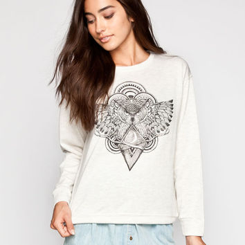 Workshop Mythical Owl Womens Sweatshirt Oatmeal  In Sizes