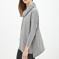 FOREVER 21 Heathered Knit Hoodie