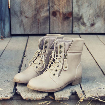 The Big Sur Sweater Boots in Sand