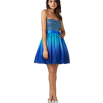 Hailey Logan Sequin-Bodice Ombre Skirt Party Dress | Dillards.com