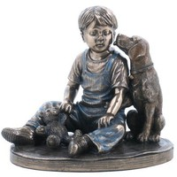 Child Statue | Boy With Dog Statue