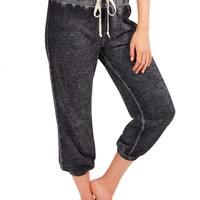 cropped burnwash pants