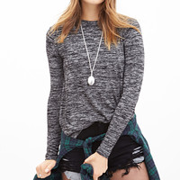 Classic Heathered Knit Top