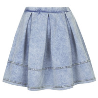 Denim Look Flippy Skirt