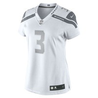 NFL Seattle Seahawks (Russell Wilson) Nike Platinum Women's Football Jersey