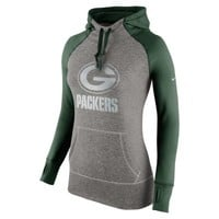 Nike Platinum All Time Pullover NFL Green Bay Packers Women's Training Hoodie - Fir