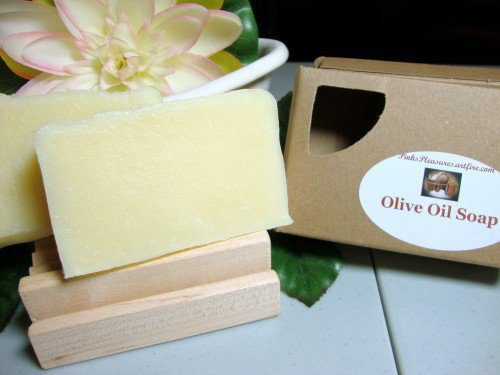 Olive Oil Shea Butter Natural Handmade Soap Unscented | PinksPleasures - Bath &amp; Beauty on ArtFire