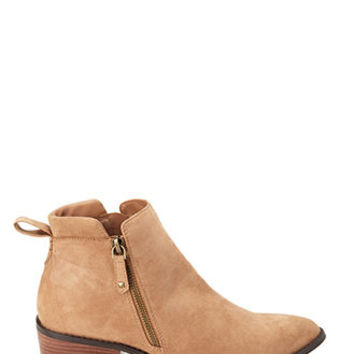 Faux Suede Zippered Booties