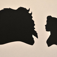 Beauty and the Beast Silhouettes