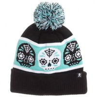 Sourpuss Sugar Skull Knit Hat | Retro Rockabilly