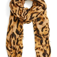Roffe Accessories Leopard Print Scarf