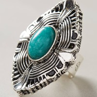 Turquoise Shield Ring