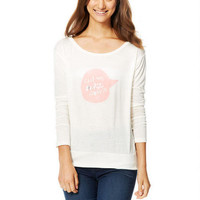 Can We Dance Now Long-Sleeve Top - Cream
