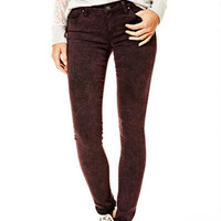 Olivia Low-Rise Jeggings in Acid Wine