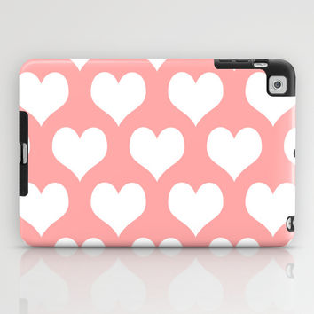 Coral Pink Hearts of Love iPad Case by BeautifulHomes | Society6