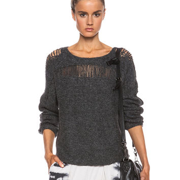 Deconstructed Sweater in Charcoal