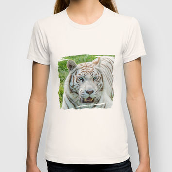 THE BEAUTY OF WHITE TIGERS T-shirt by Catspaws   Society6
