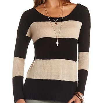 Boxy Rugby Striped Pullover Sweater