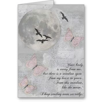 Moon Birds Away from You Rumi Card
