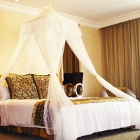 White Square Top Bed Canopy - Holiday Resort Style:Amazon:Home & Kitchen