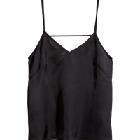 H&M - Patterned Satin Camisole -