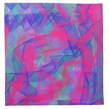 Colorful Abstract shapes cloth napkins 12x12