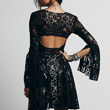 Free People Womens Lovers Folk Song Dress