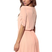 Ruched Pleated Skater Dress @ Cicihot sexy dresses,sexy dress,prom dress,summer dress,spring dress,prom gowns,teens dresses,sexy party wear,ball dresses