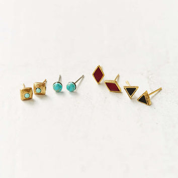 Western Stone Post Earring Set - Urban Outfitters