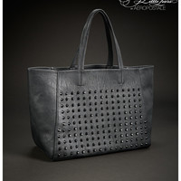 PRETTY LITTLE LIARS HANNA STUDDED FAUX LEATHER TOTE