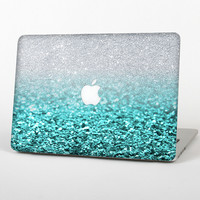 The Tiffany Blue & Silver Glimmer Fade Skin for the Apple MacBook Air 13""
