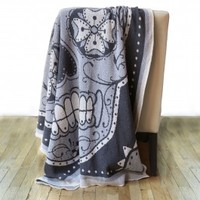 Sugar Skull Knit Throw
