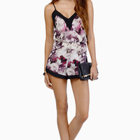 Oh My Love Dazed Floral Playsuit $72