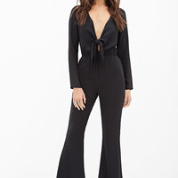 Self-Tie Knotted Jumpsuit