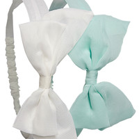 Solid Bow Headwrap 2-Pack | Wet Seal