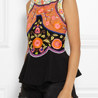Vineet Bahl - Embroidered crepe top