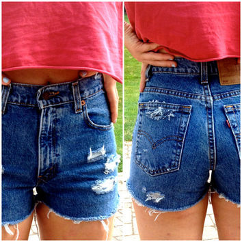 High Waisted Levis Shorts