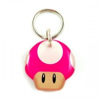 Mario Bro\s Power Up Mushroom Double Sided Pet ID Tag | metamorphdesigns - Pets on ArtFire